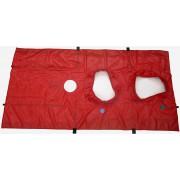 BlowerDoor-doek voor 2 ventilator